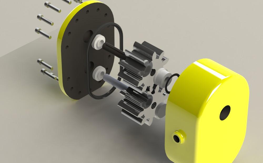 齿轮泵工作原理—动画演示